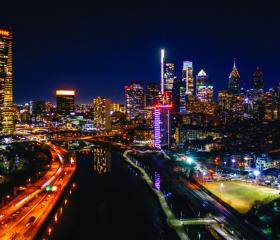 Philadelphia Skyline Night